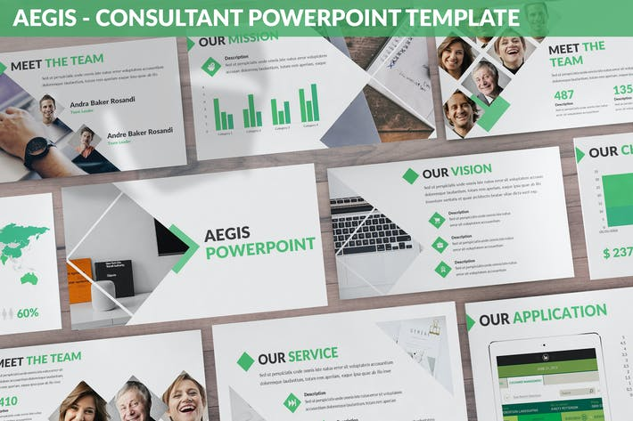 Thumbnail for Aegis - Consultant Powerpoint Template