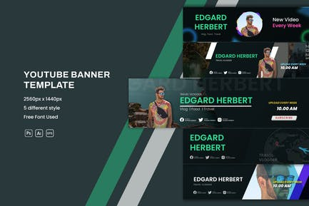 Traveling Youtube Banner Template