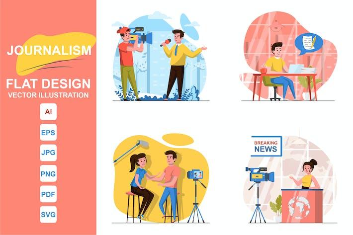 иллюстрации Журналистика Концепция