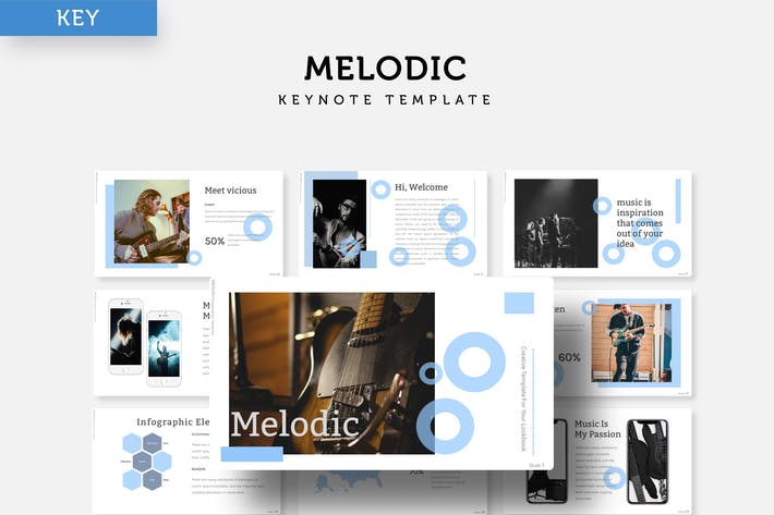 Thumbnail for Melodic - Keynote Template