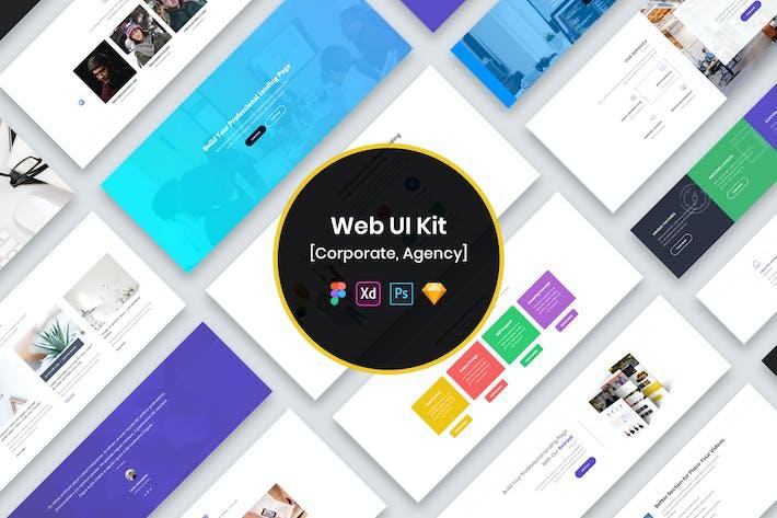 Thumbnail for Corporate Agency Web UI Kit