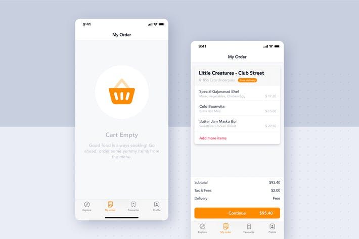 Thumbnail for Food Delivery UI Kit - My Order screen