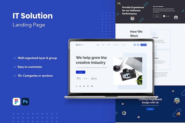 IT Solution Website Landing Page