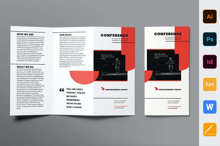 Thumbnail for Conference Brochure Trifold