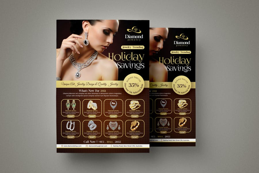 Jewelry Store Flyer Template