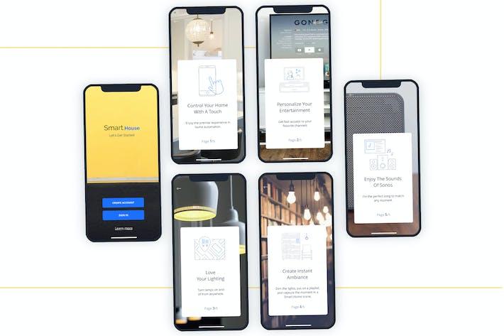 Thumbnail for SmartHome LaunchScreen Walkthrough Mobile UI - FH