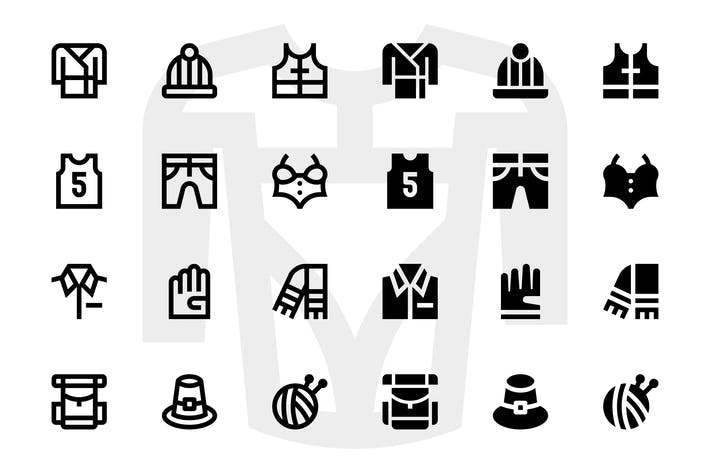 Cover Image For 110 Clothes Icons
