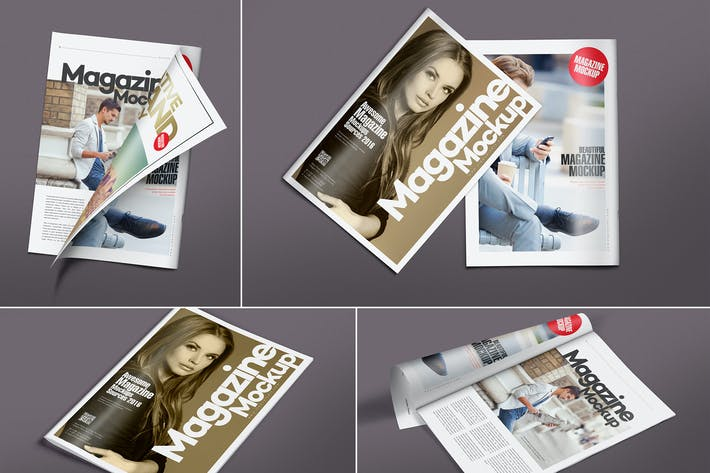 Thumbnail for Versatile Magazine Mockups