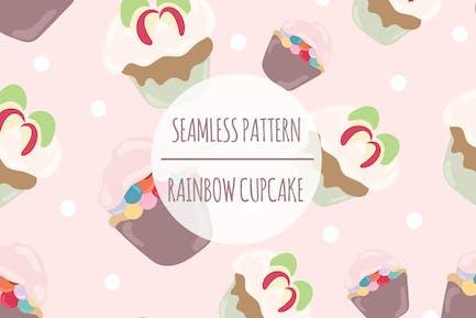 Rainbow Cupcake – Seamless Pattern