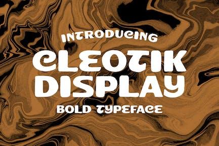 Cleotik - Vintage Display Font