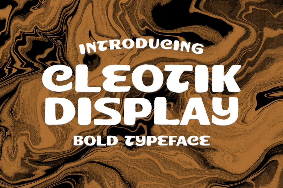 Cleotik - Police d'affichage vintage