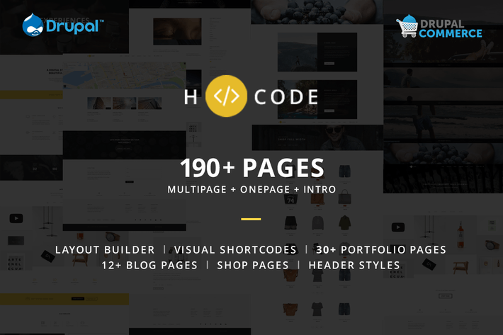 Thumbnail for H-code - Multipurpose Commerce Drupal theme