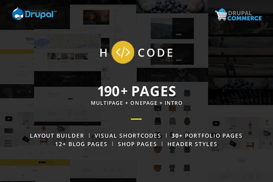 H-code - Multipurpose Commerce Drupal theme
