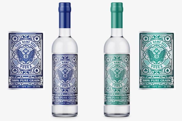 Vintage Wodka Label-Layout