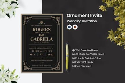 Ornament Invite Wedding Invitation