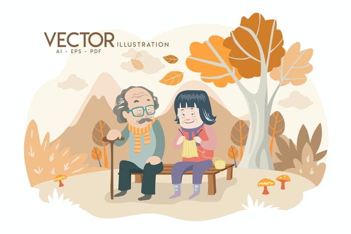 Thumbnail for OLD AGE - Vector Illustration