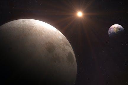Erde von Mond-Hintergrund