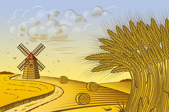 Thumbnail for Wheat Fields Landscape