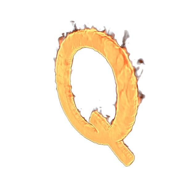 Fire Letter Q