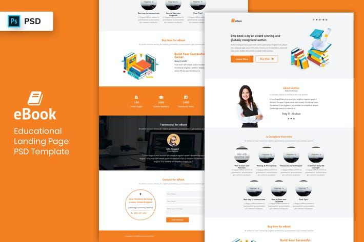 Thumbnail for Ebook - Landing Page PSD Template-02