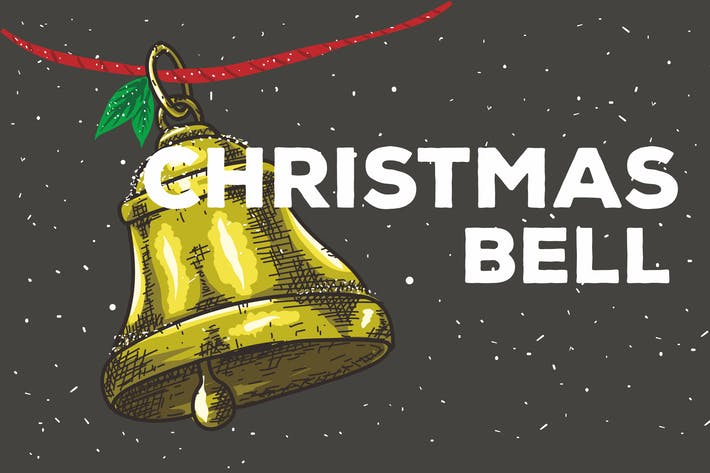 Thumbnail for Christmas Bell Vector Background