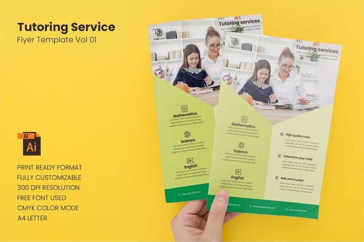 Thumbnail for Tutoring Service - Flyer Template Vol. 01