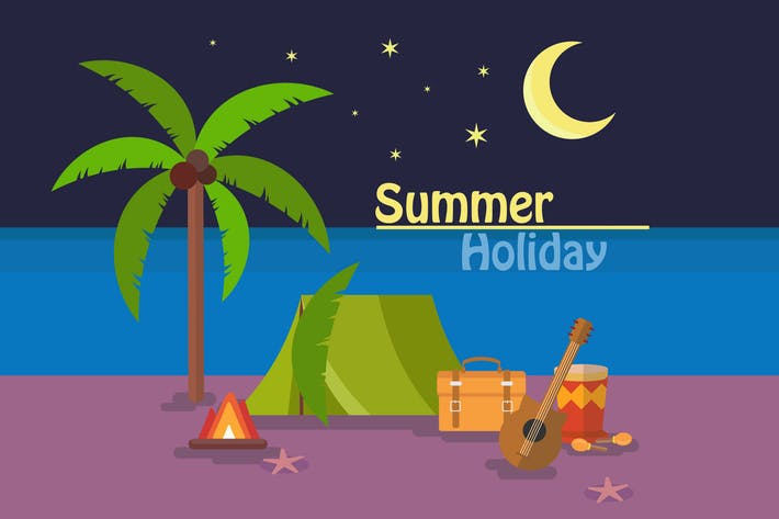 Thumbnail for Summer Holiday - Illustration Background