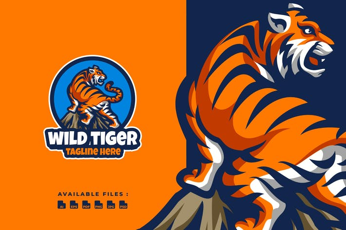 Thumbnail for Wild Tiger Logo Template