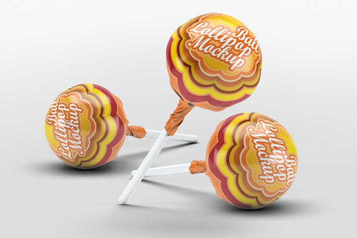 Thumbnail for Ball Lollipop Candy Mock-Up