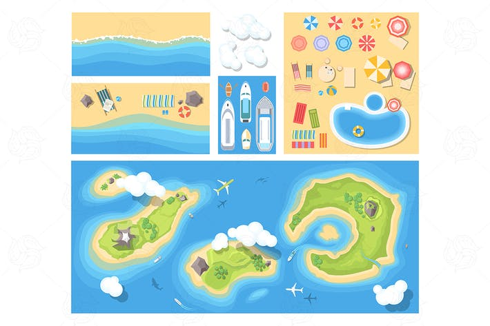 Thumbnail for Beach holiday - set of elements