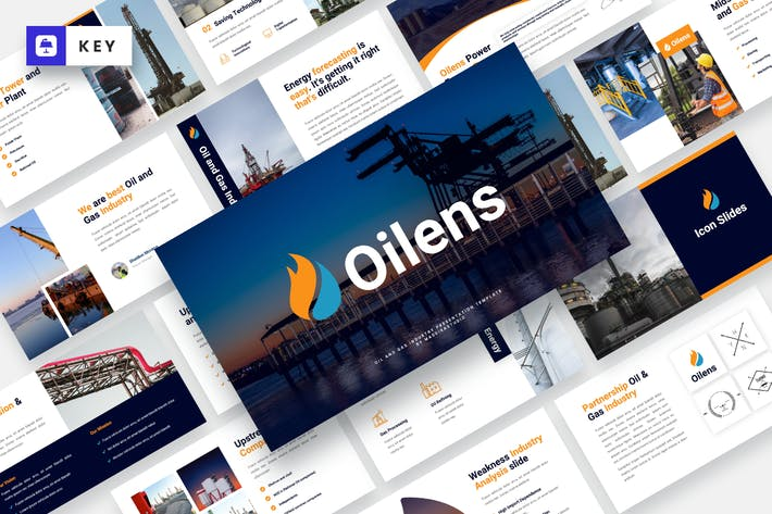 Thumbnail for Нефтяные - Нефтегазовая промышленность Keynote шаблон