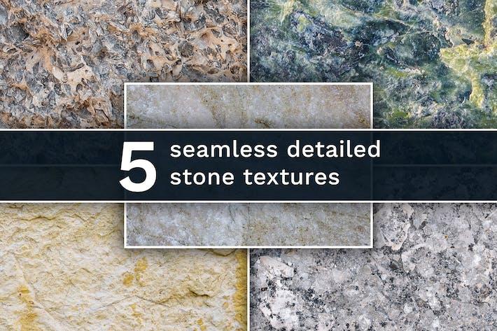 Set aus 5 verschiedenen nahtlosen Steintexturen