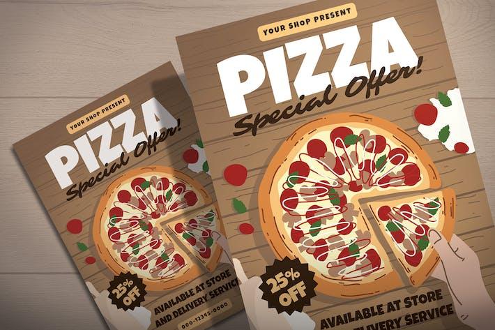 Thumbnail for Pizza Shop Sale - Flyer Template