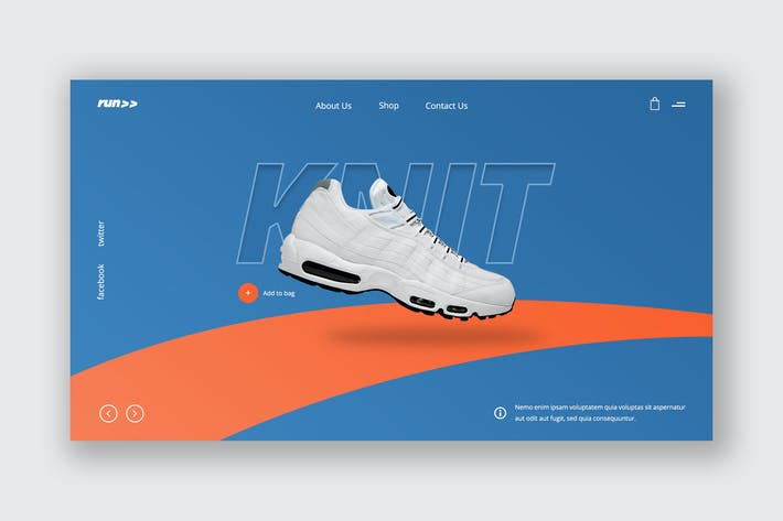 Thumbnail for Sporty Footwear Ecommerce Hero Header Template