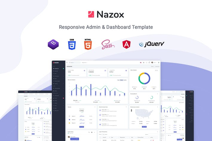 Thumbnail for Nazox - Plantilla de administración y tablero angular 10