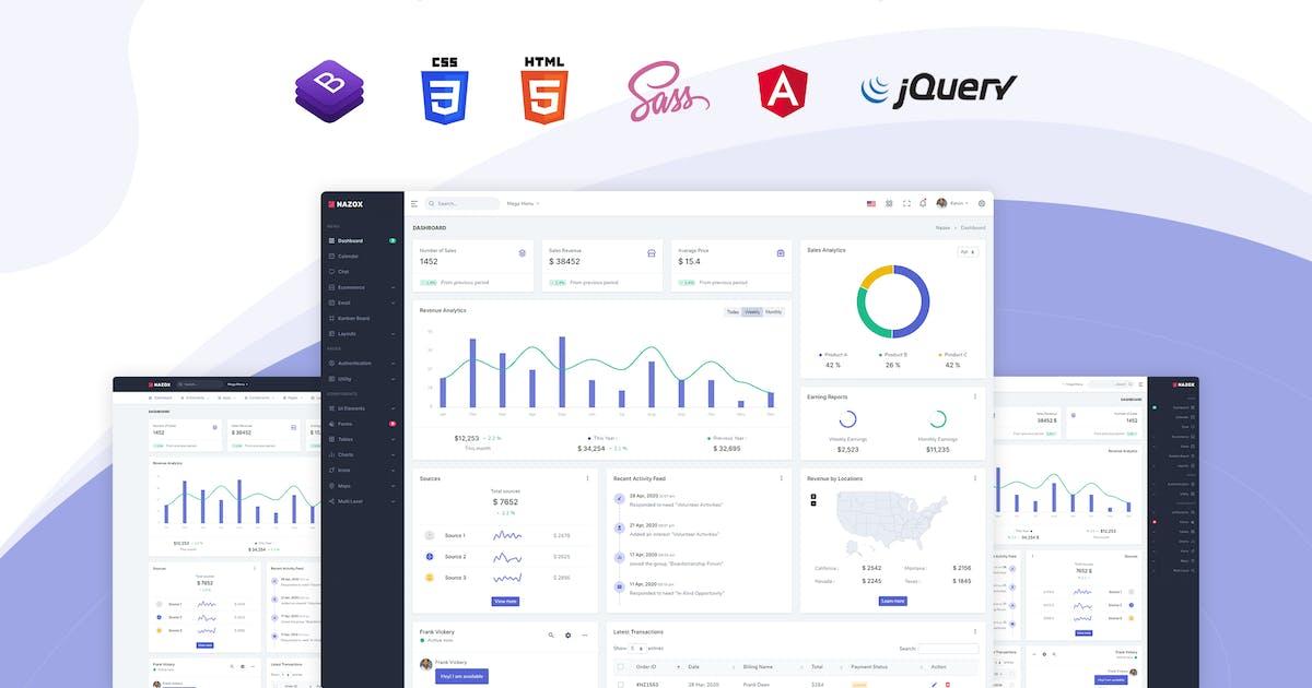 Download Nazox - Angular 10 Admin & Dashboard Template by themesdesign