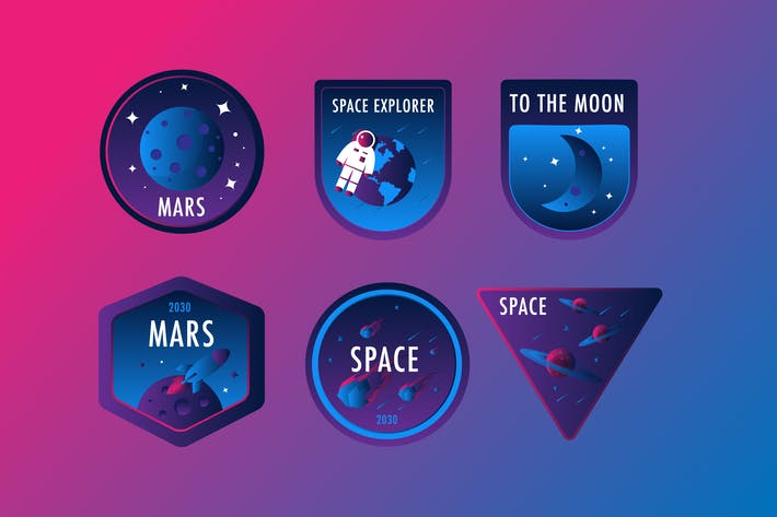 Thumbnail for Space Gradient Badges