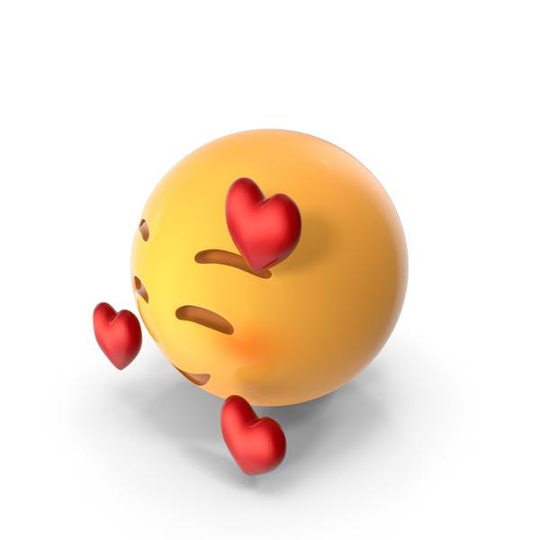 Sonrisa Emoji Con Corazones