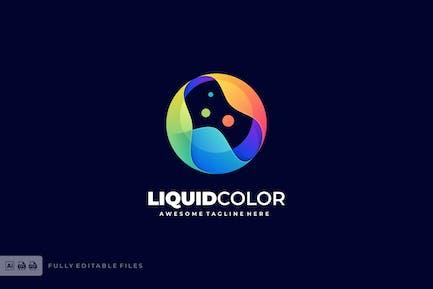 Sphere Liquid Color Gradient Logo template
