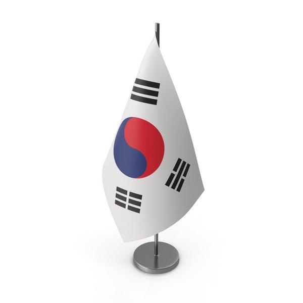 Table Flag South Korea
