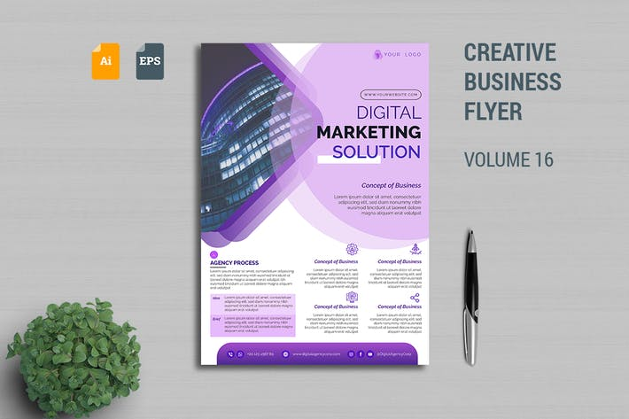 Thumbnail for Creative Business Flyer Template Vol. 16