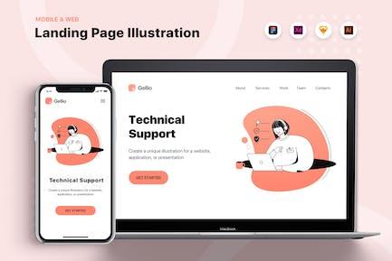 Technischer Support - Banner & Landing Page