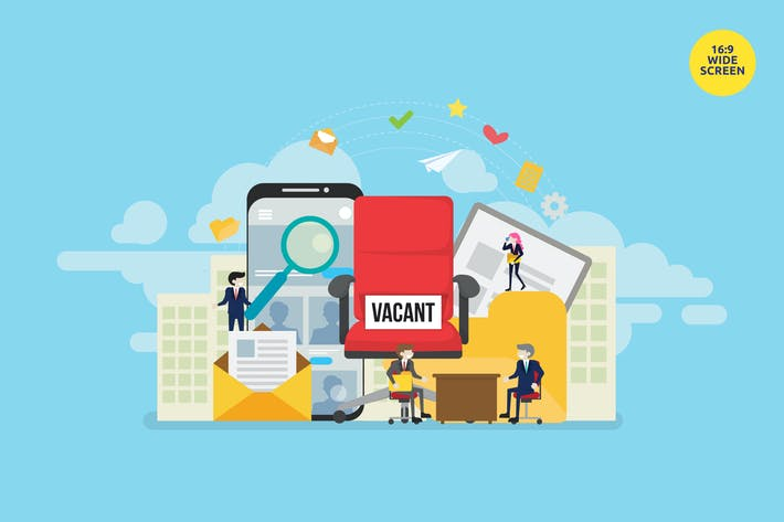 Thumbnail for Online Job Vacancy Vector Concept Illustration