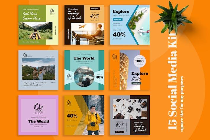 Thumbnail for Sava - Travel Social Media Kit