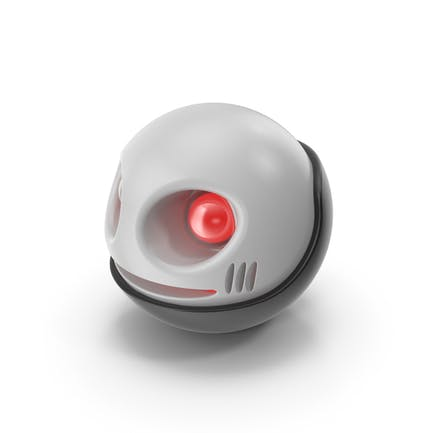 Spherical Toy Robot Head with Glow