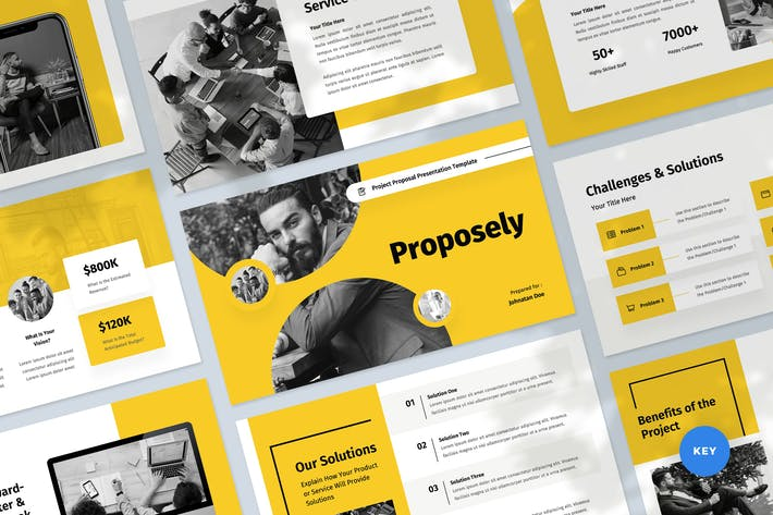 Thumbnail for Project Proposal & Pitch Keynote Template