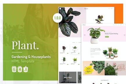 Plant   Gardening & Houseplants HTML Template