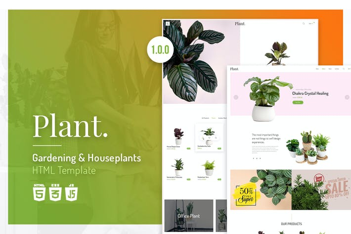 Thumbnail for Plant | Gardening & Houseplants HTML Template