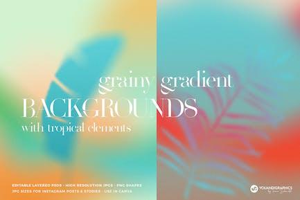 Tropical Grainy Gradient Backgrounds