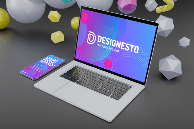 Macbook Pro And IPhone 12 – Mockup Template